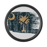 South Carolina Flag Large Wall Clock