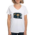 South Carolina Flag Women's V-Neck T-Shirt