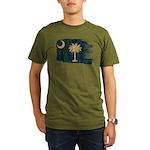 South Carolina Flag Organic Men's T-Shirt (dark)