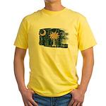 South Carolina Flag Yellow T-Shirt