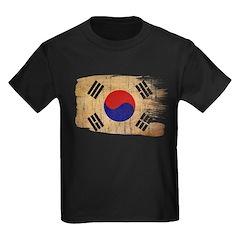 South Korea Flag Kids Dark T-Shirt