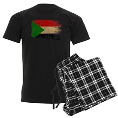 Sudan Flag Men's Dark Pajamas