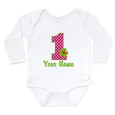 1stbdaypinkgren Baby Suit