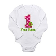 1stbdaypinkgren Long Sleeve Infant Bodysuit