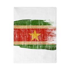 Suriname Flag Twin Duvet