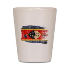 Swaziland Flag Shot Glass