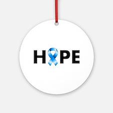 Blue Ribbon Hope Ornament (Round)