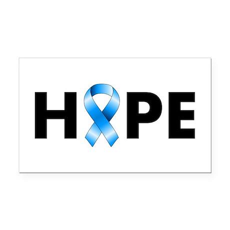 Blue Ribbon Hope Rectangle Car Magnet