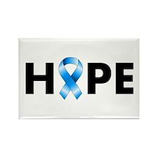 Blue Ribbon Hope Rectangle Magnet