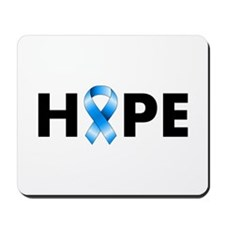 Blue Ribbon Hope Mousepad