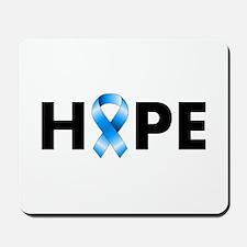 Blue Ribbon Hope Mousepad