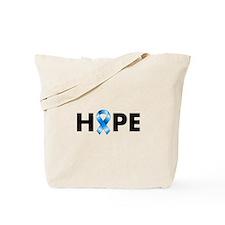 Blue Ribbon Hope Tote Bag