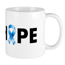 Blue Ribbon Hope Small Mugs