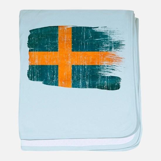 Sweden Flag baby blanket
