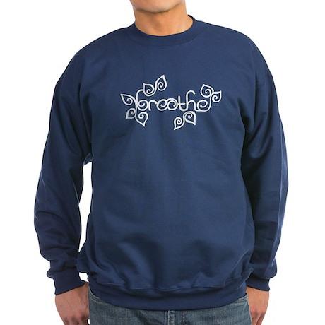 breathe yoga wellness blue Sweatshirt (dark)