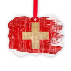 Switzerland Flag Ornament