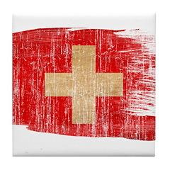 Switzerland Flag Tile Coaster