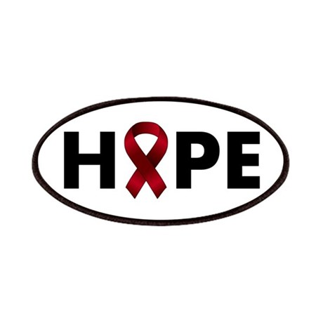 Burgundy Ribbon Hope Patches