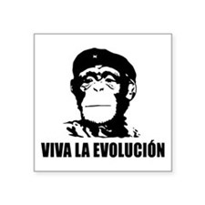 "Viva La Evolucion Square Sticker 3"" x 3"""