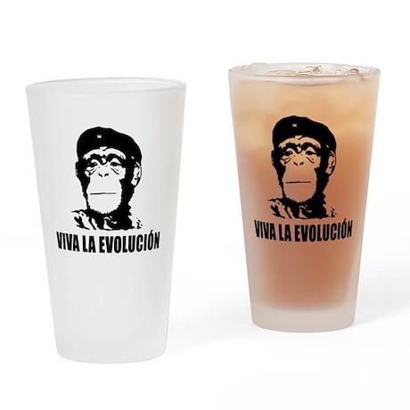 Viva La Evolucion Drinking Glass