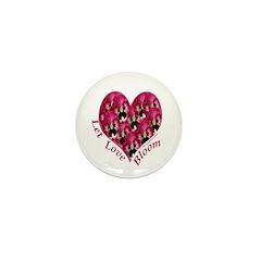 Raspberry Pansy, Let Love Bloom Mini Button (10 pa