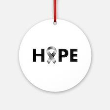 Grey Ribbon Hope Ornament (Round)