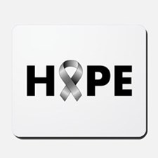 Grey Ribbon Hope Mousepad
