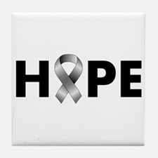 Grey Ribbon Hope Tile Coaster