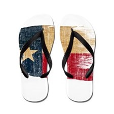 Texas Flag Flip Flops