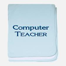 Computer Teacher baby blanket
