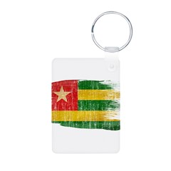 Togo Flag Aluminum Photo Keychain