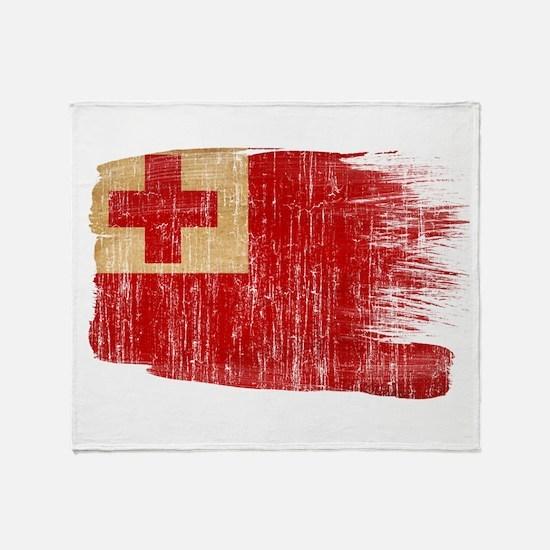 Tonga Flag Throw Blanket