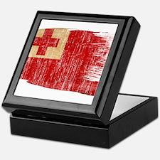 Tonga Flag Keepsake Box
