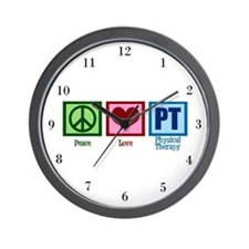 Peace Love PT Wall Clock
