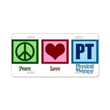 Peace Love PT Aluminum License Plate