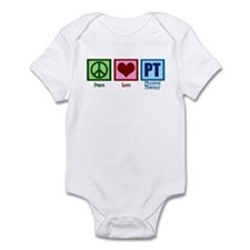 Peace Love PT Infant Bodysuit