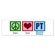 Peace Love PT Bumper Sticker