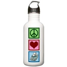 Peace Love Accounting Sports Water Bottle