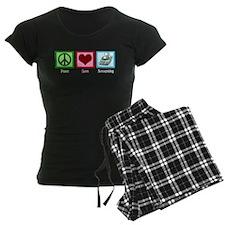 Peace Love Accounting pajamas
