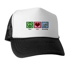Peace Love Accounting Trucker Hat