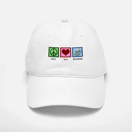 Peace Love Accounting Baseball Baseball Cap