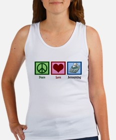 Peace Love Accounting Women's Tank Top