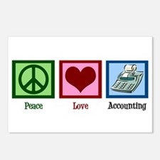 Peace Love Accounting Postcards (Package of 8)