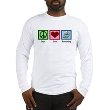 Peace Love Accounting Long Sleeve T-Shirt