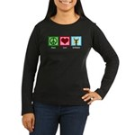 Peace Love Orchestra Women's Long Sleeve Dark T-Sh