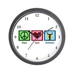 Peace Love Orchestra Wall Clock