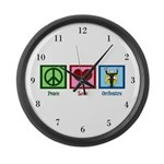 Peace Love Orchestra Large Wall Clock