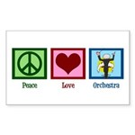 Peace Love Orchestra Sticker (Rectangle)