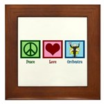 Peace Love Orchestra Framed Tile