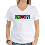 Peace Love Orchestra Women's V-Neck T-Shirt
